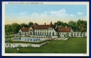 Birmingham Alabama al Country Club old white bordered postcard