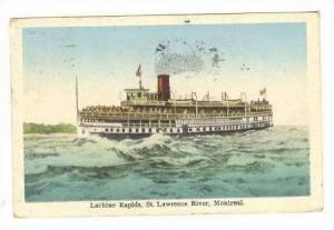 Lachine Rapids, St Lawrence River, montreal, PU-1928