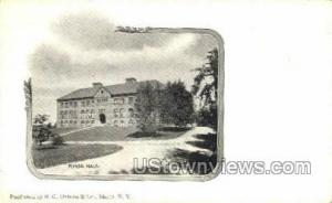 Morse Hall, Private Mailing Card Ithaca NY Unused