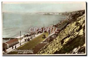 Old Postcard The Undercliff Drive from Boscombe