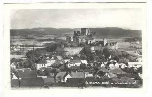 RP, Panorama, Rabi- Se Zriceninou Hradu, Sumava, Czech Republic, 1920-1940s