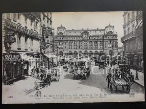 Paris La Gare Saint-Lazare view from Harve Street & MERCEDES MOTOR COACH 170515