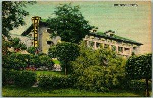 MADISON Indiana Postcard HILLSIDE HOTEL Building View Curteich Linen 1946 Cancel