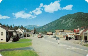 Eastport, Idaho & Kingsgate, BC Customs, Chevron Station c1950s Vintage Postcard