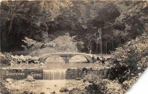 G77/ Dripping Springs Arkansas RPPC 1923 Postcard Siloam Springs Bridge