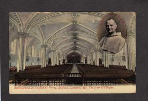 ME St Pierre St Paul Church Lewiston Maine Private Postcard Priest Cure
