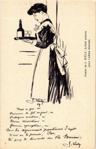 PC CPA ADVERTISING, MARIANI, DESSIN DE J. WÉLY, VINTAGE POSTCARD (b18127)