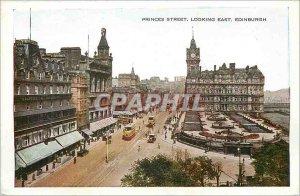 Modern Postcard Princes Street Edinburgh Looking East