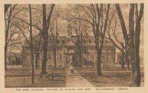 WILLIAMSBURG, Virginia, 1933 ; Wren Building