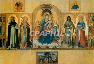 Postcard Modern Galleria Nazionale Perugia Our Lady on the Throne and Saints