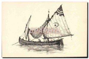 Postcard Old boat Middle East