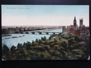 London: Westminster Bridge - Old Postcard