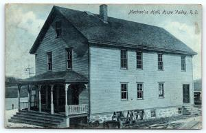 Postcard RI Hope Valley Mechanics Hall 1911 B33