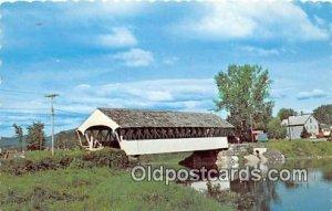 Covered Bridge Vintage Postcard Groveton Covered Bridge unused