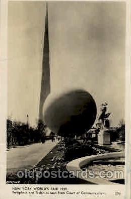 New York Worlds Fair 1939 exhibition postcard Post Card  Perisphere & Trylon
