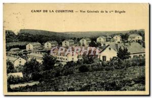 Old Postcard Camp of Courtine General view of the 2nd Brigade