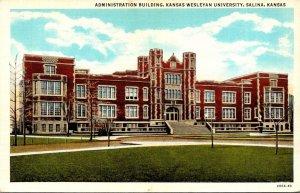 Kansas Salina Administration Building Kansas Wesleyan University Curteich