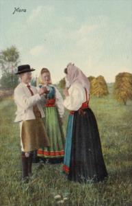 Sweden Mora Locals In Traditional Costume