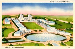 NY - New York World's Fair, 1939. Federal Area Exhibit Buildings