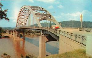 Fort Henry Bridge Ohio River Wheeling West Virginia WV Postcard
