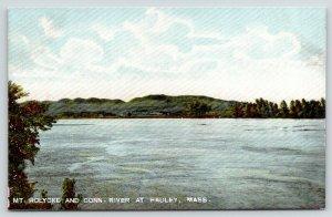 Hadley Massachusetts~View Across Connecticut River to Mount Holyoke~c1905 PC