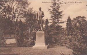 New York Utica Monument To Late Vice Pres James S Sharman Albertype