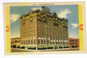 Alex Johnson Hotel, Rapid City, South Dakota, unused linen Postcard