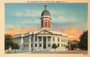 Postcard Cherokee County Court House Murphy North Carolina