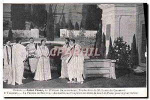 Postcard Ancient Odeon Theater Julius Caesar by William Shakespeare Louis de ...