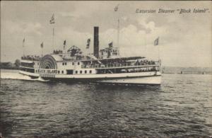 Steamer Ship Block Island c1910 Postcard