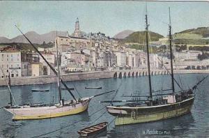 Sailboats, Le Port, Menton (Alpes Maritimes), France, 1910-1920s