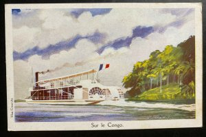 Mint French Congo Color Picture Postcard PPC River View