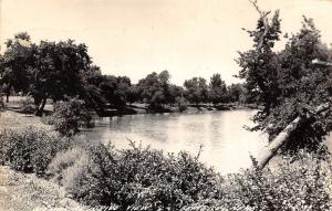 Beatrice NE~View of Big Blue River From Memorial Drive (Now Obscured)  RPPC 1959