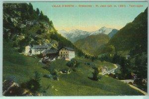 97500 - CARTOLINA d'Epoca - AOSTA provincia  - GRESSONEY  St Jean 1912