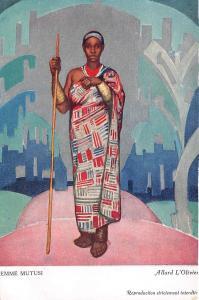 B92020 woman mutusi allard l olivier types folklore rwanda congo   africa