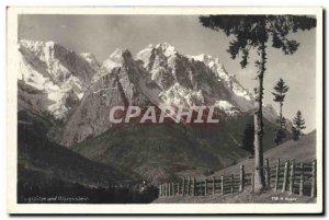 Postcard Old Waxenstein und Zugspitze