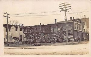 Pittsfield ME Hardware Store Fire of 1911 RPPC Postcard