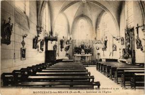 CPA MONTCEAUX-les-MEAUX - Interieur de l'Église (436466)