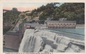 ROCHESTER , New York , 00-10s ; R.R.&L> co.'s Power house, Lower Falls