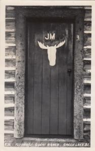 RP: Door , Flying-W Guest Ranch , GREEN LAKE , B.C. , Canada , PU-1954