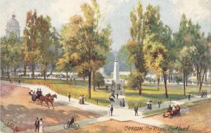 Oregon. ThePlaza. Portland. Horses Tuck Oilette Oregon Ser. PC # 2695