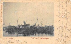 SS Botnia Ship Writing on back