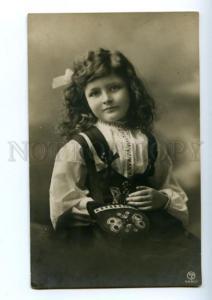 141001 Curly Girl w/ Fashionable Handbag Vintage PHOTO PC