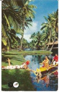 Vintage Postcard Coco Palm's Resort Hotel Island of Kauai Hawaii Hawaiian Dancer