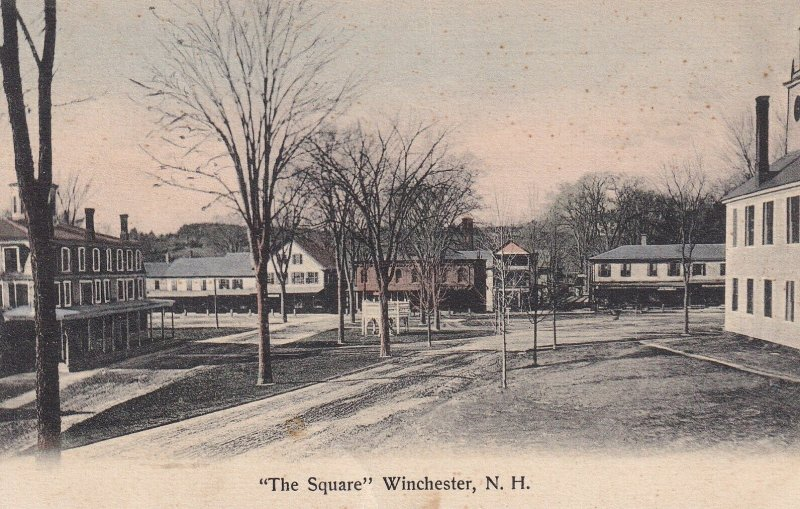 WINCHESTER, New Hamshire, 1900-1910's; The Square