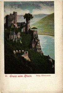 CPA AK Gruss v Rhein, Burg Rheinstein GERMANY (1011184)