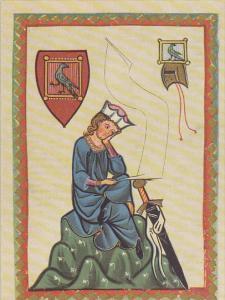Minnesinger Miniatures Walther Von Der Vogelweide Medieval Art Germany