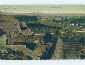 Divided-back MILITARY SCENE Gettysburg Pennsylvania PA AF8749