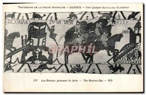 Old Postcard Queen Mathilde Bayeux Tapestry The Britons flee