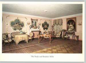 Study and Boudoir Furniture Imperial RUSSIA Interior Decoration Postcard